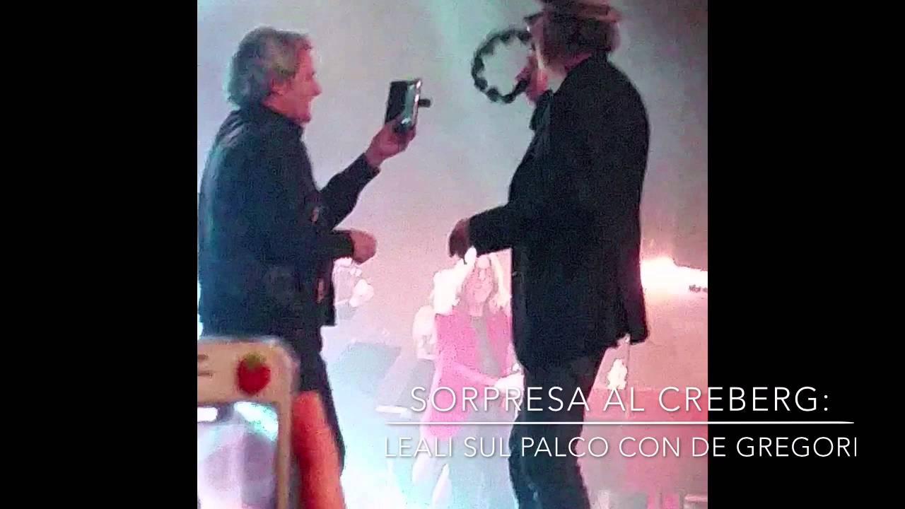 Fausti Leali sul palco del Creberg con Francesco De Gregori