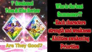 FFBE 7 Stars Yuna And Eiko Abilities Awakening (#731)