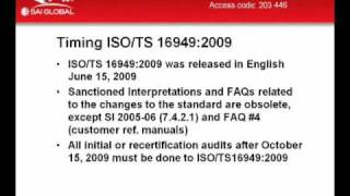 Introducing ISO/TS 16949:2009