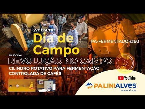 LANÇAMENTO Cilindro Rotativo para Fermentação Controlada de Cafés – PA-FERMENTADOR360 Palinialves