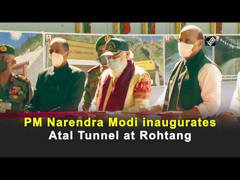 PM Narendra Modi inaugurates Atal Tunnel at Rohtang