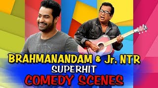 Brahmanandam & Jr NTR Superhit Comedy Scenes   South Hindi Dubbed Best Comedy Scenes