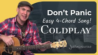 How to play Don't Panic by Coldplay (Acoustic Guitar Lesson SB-111)