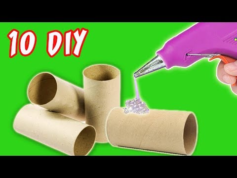 10 DIY CHRISTMAS RECYCLED DECORATION – CRAFTS WITH ROLLS TOILET PAPER | aPasos Crafts DIY