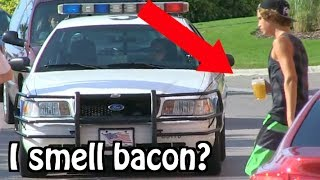 """Kids Drinking Beer PRANK ON COPS... """"I THINK I SMELL BACON"""""""