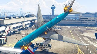 GTA 5 | A350 Crash At Airport Due To Pilot In Training
