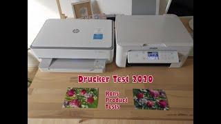 Epson Home XP-4105 vs. HP ENVY 6020   Drucker Printer Vergleich 2020 in Corona Zeiten unter 100€