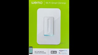 Wemo Wi-Fi Smart Dimmer Installation
