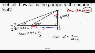 Geometry - Unit 6 Lesson 4 Angles Of Elevation And Depression