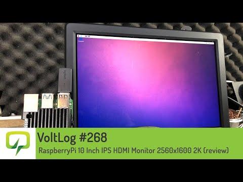 RaspberryPi 10 Inch IPS HDMI Monitor 2560x1600 2K (review)