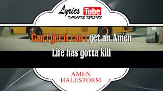 "Video thumbnail of ""HALESTORM - AMEN   Official karaoke musik video"""