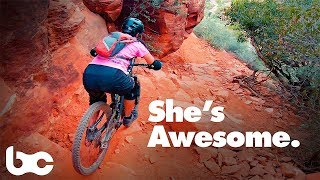 LIKE RIDING OFF A CLIFF | Riding Hiline Trail in Sedona