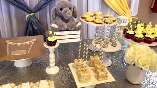 Elephant Theme Neutral Yellow/Grey Themed Baby Shower - D&R Decor - Toronto Event Decorator