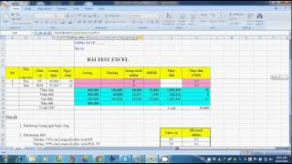 Phỏng vấn kiếm tra Excel - test Excel