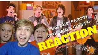 """Jonas Brothers Parody """"Year 2019"""" with James Corden Reaction Video!"""