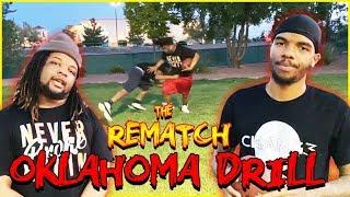 No Pads Oklahoma Drill: Linebacker vs Wide Receiver In Trash Talking Rivalry!