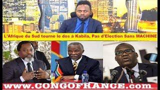 Actualité 20 09 2018 L'Afrique du Sud Rejette KABILA, Pas d'élection Sans MACHINE à VOTER