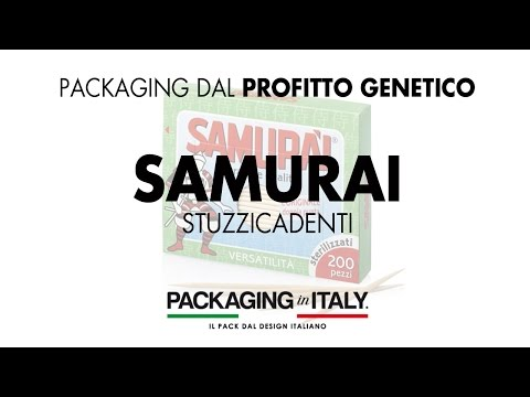 06 Packaging Profitto Genetico™ : Stuzzicadenti Samurai