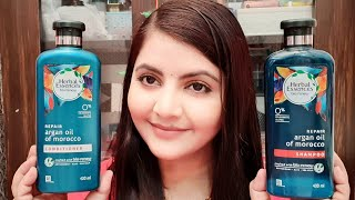 Herbal essence shampoo and conditioner review   bio:renew repair argan oil of Morocco   RARA  