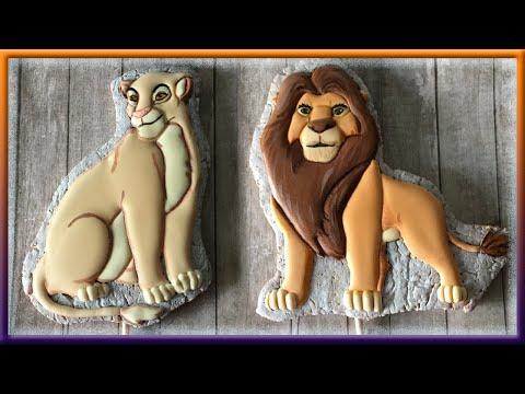 Как приготовить имбирные пряники для украшения торта Король Лев