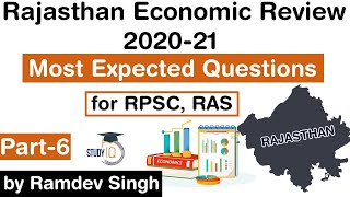 Rajasthan Economic Review 2020-21 - Most Expected Questions for RPSC, RAS & other exams Part-6