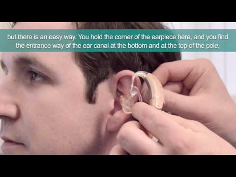 How to fit A Behind The Ear Canal hearing aid properly