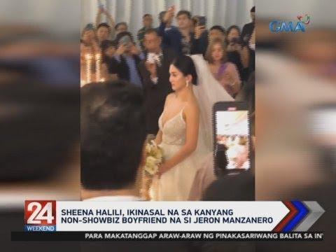 [GMA]  24 Oras: Sheena Halili, ikinasal na sa kanyang non-showbiz boyfriend na si Jeron Manzanero