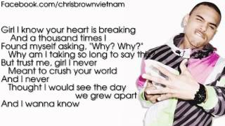 Chris Brown - Say Goodbye [Lyrics Video]