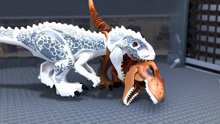 LEGO Jurassic World 🔴 Indoraptor vs Indominus Rex -8 (Attack)
