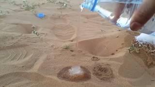 YOK ARTIK   Çölde dökülen zemzem suyunun donması inanılmaz