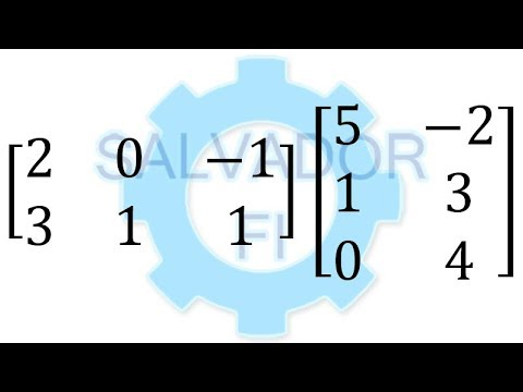 Multiplicar Matrices 2x3 y 3x2  -Salvador FI