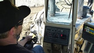 Inside the CAT D11R | Rolling dirt & pushing a lift on...