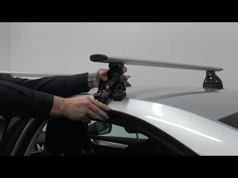 Střešní nosič VOLKSWAGEN GOLF VI 3dv hatchback, černá Fe tyč