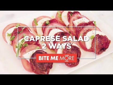 EASY APPETIZER RECIPE – Caprese Salad 2 Ways