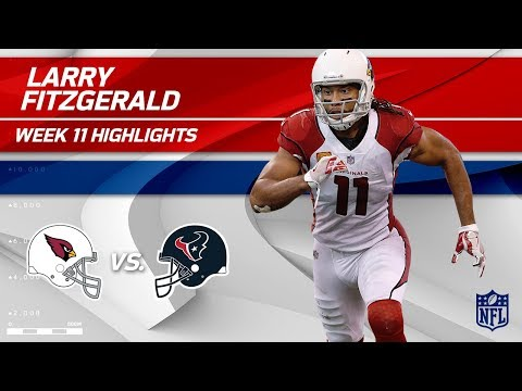 Larry Fitzgerald's 9 Catches, 91 Yards & 1 TD | Cardinals vs. Texans | Wk 11 Player HLs