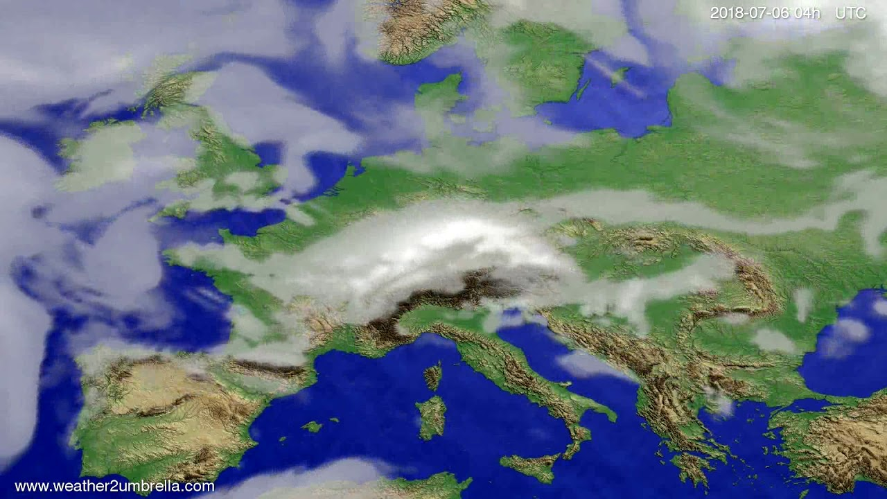 Cloud forecast Europe 2018-07-02
