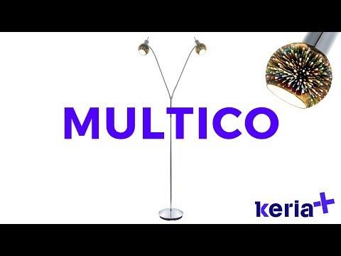KERIA LUMINAIRES _ Vidéo lampadaire design effet 3D MULTICO