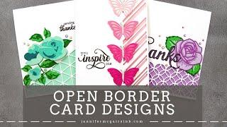 Open Border Die Cut Cards