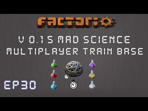 Factorio 0.15 Mad Science Ep 30: Drills & Assemblers! - Multiplayer Train Base, Let's Play,Gameplay