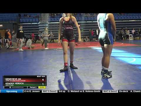 Middle School 130-139 Genevieve An Level Up Wrestling Center Vs Kendra Heroch Unattched