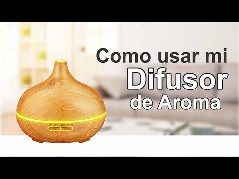 Como usar un difusor de Aroma de aceites esenciales