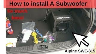 How to install a Sub - Alpine SWE-815 - Fiesta ST180