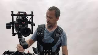 Dji ronin MX on a steadycam vest