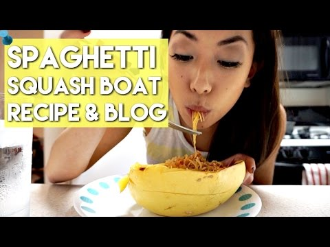 Body Stats Update & Spaghetti Squash Boat Recipe