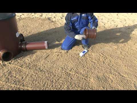 Funke Kunststoffe - Verlegung HS-Doppelmuffe DN/OD 160