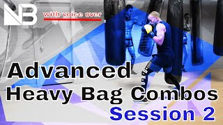 Advanced Heavy Bag Combinations   Session 2 by NateBowerFitness