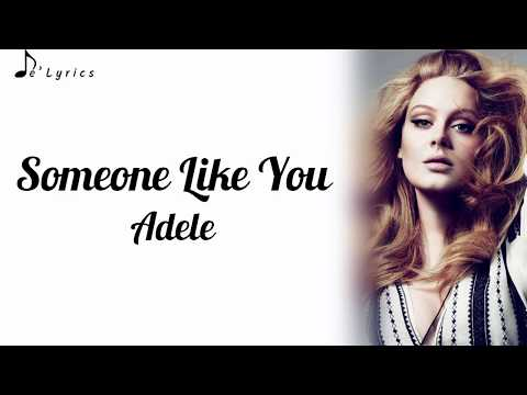 Youtube Adèle Someone Like You Lyrics — TTCT