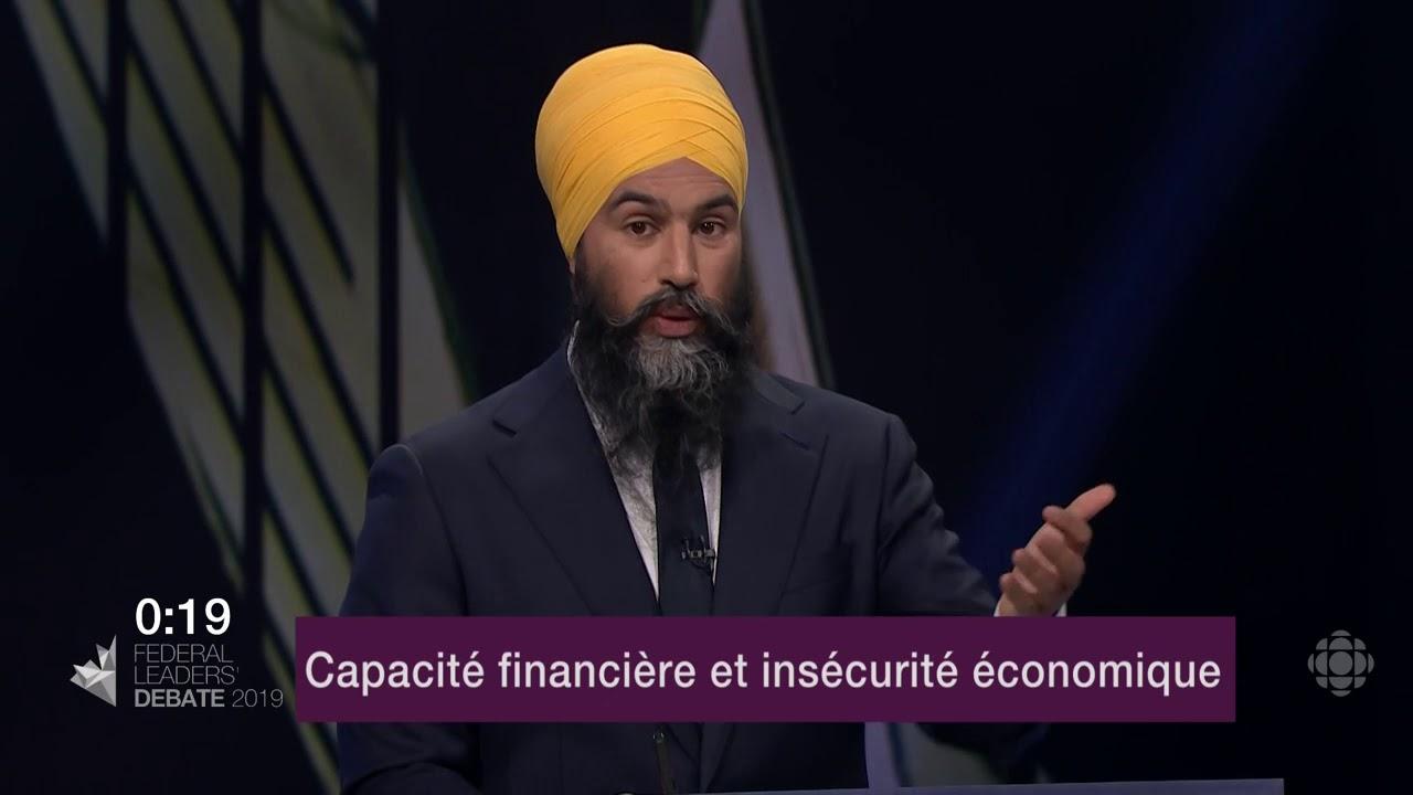 Jagmeet Singh répond à une question sur les inégalités de revenu et le coût de la vie