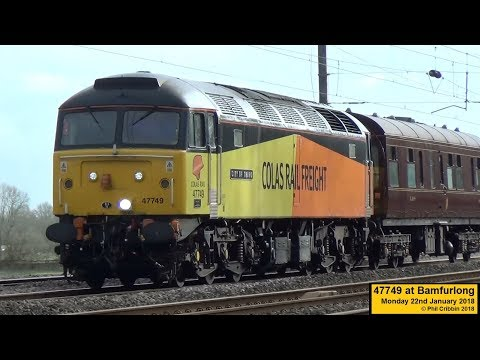 Colas Rail 47749 heads north with an Observation Saloon for …