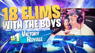 Solid 18 Elim Victory Royale With The Boys!